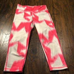 GAP Fit Stars Pink/White Girls Size M Leggings